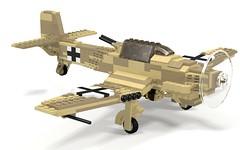 POV_DAK Ju-87D1 Trop Stuka (Florida Shoooter) Tags: lego german ww2 povray ldd ju87d1stuka