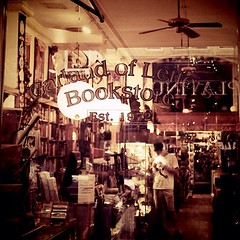 Garland of Letters Bookstore in Philadelphia (tickleblackwombat) Tags: travel philadelphia vintage square books bookstore squareformat photowalk iphoneography instagramapp