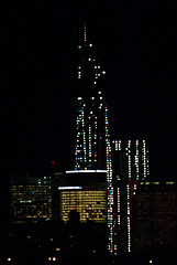 20130107-32 (cloesner) Tags: newyorkcity colors skyline night lights construction outline lowermanhattan connectthedots freedomtower 1wtc oneworldtradecenter