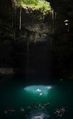 Cenote (Brandon Velasco) Tags: vacation portrait people fish water landscape mexico nikon tourists cenote cancun cave coldwater ekbalam cavefish cavewater nikond7000