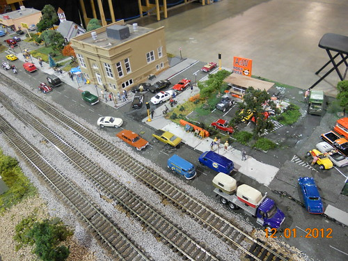 Model railroad train layout at Oklahoma City model train show 36th annual