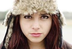 Just look at me... (Nhoj Leunamme == Jhon Emmanuel) Tags: winter portrait girl beautiful hat mexicana eyes chica bright gorro retrato mexican ojos bonita invierno pelirroja redish brillantes