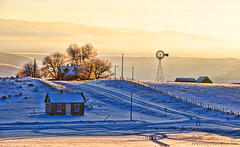 Good morning Chesterfield (Pattys-photos) Tags: winter windmill idaho ghosttown chesterfield nikkor18200mm nikond7000