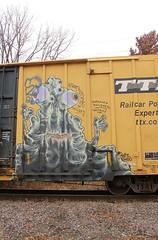 Grominate (The Braindead) Tags: street art minnesota train bench photography graffiti painted tracks minneapolis twin rail explore beyond grom the cites grominate