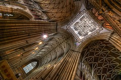 York Minster Interior (inreflection) Tags: york city church stone nikon nef cathedral yorkshire sigma vaulted yorkminster vaultedceiling sigma1224 nikoncapture magnesianlimestone lanterntower nikondslr nikond600 yorkattraction sigma1224f4556mkiidghsm