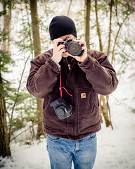 Matt Zwilling (Nick Benson Photography) Tags: camera winter people cold film digital canon matt person eos photographer cameras 7d zwilling