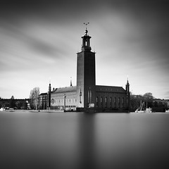City Hall.. (Peter Levi) Tags: longexposure sea blackandwhite bw tower blancoynegro clouds cityscape sweden stockholm le 1740mm stadshuset hall blackwhitephotos nd110 city 5dmkii bestcapturesaoi elitegalleryaoi mygearandme mygearandmepremium mygearandmebronze mygearandmesilver mygearandmegold mygearandmeplatinum mygearandmediamond