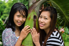 Kylee and YenYen (karlhans) Tags: portrait model pretty philippines young cebu filipina kylee gwapa argao yenyen f16plus