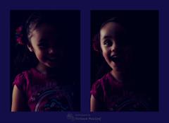 Fun In The Dark (SushmaM) Tags: light flower colour girl smile umbrella photoshop happy nikon laugh nikkor lowkey playful speedlight bounce sb800 speedlite ps5 d700