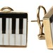 1025. Piano Key Motif Ear Clips