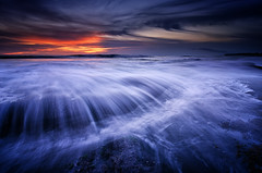 The Blue Reverie [Explored] (eggysayoga) Tags: blue sunset sea bali sun seascape motion water indonesia landscape nikon streak lima wave tokina filter lee nd graduated waterscape gnd canggu seseh 1116mm pererenan d7000
