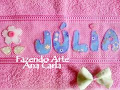 toalhinha Julia (Ana Carla_Fazendo Arte) Tags: baby bebê patchwork menina menino rosto toalhinha toalharosta