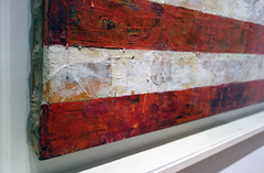 Jasper Johns, Flag, detail with side exposed