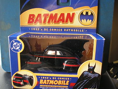 Corgi 1940's Batmobile. (Jimmy Big Potatoes) Tags: batman batmobile gothamcity batmanrobin thebatcave