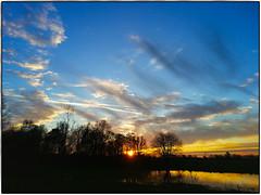 Moment (Doreen Vellinga) Tags: winter light sunset sky orange holland color netherlands colors clouds landscape licht zonsondergang blauw horizon nederland wolken bleu lucht oranje landschap luchten kleuren hollandseluchten dgawc