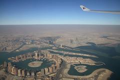 Décollage Doha (Maillekeule) Tags: windows sky plane aircraft ciel pearl airways takeoff doha qatar hublot decollage