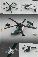 'RATTLESNAKE' RECON HELI (Pierre E Fieschi) Tags: light chopper lego pierre assault helicopter micro stealth concept rattlesnake heli stealthy recon fieschi microscale pierree