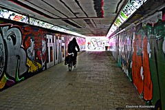 graffiti tunnel (Eleanna Kounoupa (Melissa)) Tags: street bike graffiti perspective tunnel