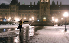 political frolicking (Kayla Hill Photography) Tags: winter snow fog night ottawa parliament elementsorganizer11