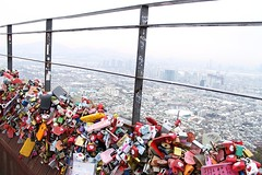 (quiet steps) Tags: city view korea lovers seoul locks padlocks namsan mtnamsan