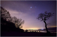 Milarrochy at night (Mandlenkhosi) Tags: scotland nikon nightsky lochlomond sigma1020mm milarrochybay d5100