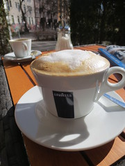 Spring coffee (dotpolka) Tags: wedding berlin coffee terrasse lavazza sparrplatz sprengelkiez cafreuter