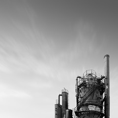 gasworks II, 2012 (p r i m e r) Tags: white black monochrome washington long exposure gasworks photostitching monoc