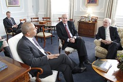 Ambassadors Vale de Almeida and Collins and Governor Deval Patrick of Massachusetts