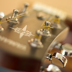 (Kate H2011 (slowly catching up!)) Tags: closeup silver square gold guitar instrument yamaha strings thumbsup headstock twothumbsup ef50mm 2thumbsup 2013 thumbwrestler pegheads thechallengefactory
