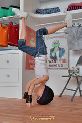 Monster High boy doll headspin (Hegemony77 doll clothes) Tags: breakdancing headspin dollclothes monsterhigh hegemony77 monsterhighboy monsterhighguy monsterhighboydoll monsterhighboydollclothes