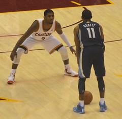 Kyrie Irving on Defense (Erik Daniel Drost) Tags: ohio basketball point cleveland guard duke arena irving kyrie nba cavaliers cavs loans quicken quickenloansarena kyrieirving