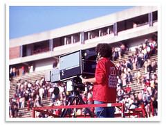 WKU TV (bogray) Tags: camera sports television football tv student ky platform homecoming 1977 bowlinggreen cameraman hilltoppers westernkentuckyuniversity endzone ltsmithstadium