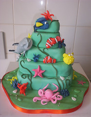 Finding Nemo Fish Cake (Suzanne Wood) Tags: sea fish cake shark underwater nemo birthdaycake octopus findingnemocake