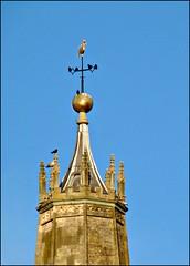 Truncated spire (pefkosmad) Tags: tower gloucestershire spire civilwar gloucester weathervane leaning stnicholaschurch royalists truncated cannonfire roundheads leadcap ballfinial siegeofgloucester
