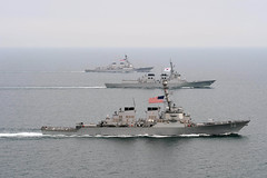 U.S. and Republic of Korea navy ships participate in Foal Eagle. (Official U.S. Navy Imagery) Tags: ussjohnsmccain ussmccampbell koreanpeninsula foaleagle2013
