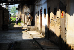 Village  (Melinda ^..^) Tags: life china door houses light shadow people heritage home window rural countryside village path live traditional culture mel shade guangdong melinda folks   villagehouses  lianping chanmelmel