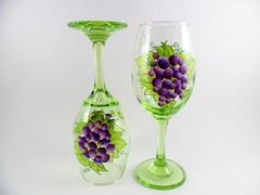 Wine Glasses Hand Painted Grapes Green Purple (Painting by Elaine) Tags: green glass glasses purple wine limegreen painted handpainted grapes lime wineglasses glassware stemware barglasses purplegrapes handpaintedglass paintedglasses handpaintedwineglass handpaintedwineglasses paintedwineglass paintingbyelaine wineglasspainted wineglasseshandpainted