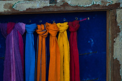 """""""I have dreamed in my life, dreams that have stayed with me ever after...and altered the color of my mind."""" (anniebluesky.*) Tags: scarf nikon frenchquarter cloth frenchmarket neworleansla 105mmf25p d40anniebluesky"""
