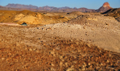 Camping on Mars I (Randell) Tags: nationalpark badlands westtexas bigbend tiltshift
