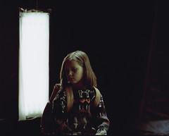 (Benjamin Skanke) Tags: light music 120 film girl oslo norway analog vintage studio norge video sweater asahi pentax takumar kodak backpack medium format 24 6x7 knitted expired smc portra 800 canoscan coated 67 multi 120mm singh diem 105mm 10mm karpe påfugl kavar