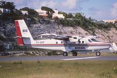 45bo - Winair De Havilland DHC-6-300 Twin Otter; PJ-WIF@SXM;31.01.1999 (Aero Icarus) Tags: slidescan plane avion aircraft flugzeug princessjulianainternationalairport saintmartin sxm