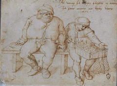 The peddler praises his trumpets, flutes & fishing nets with not much success (petrus.agricola) Tags: drawing pieter bruegel elder