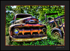 It's a Ford (the Gallopping Geezer 3.8 million + views....) Tags: vehicle truck car automobile transportation travel abandoned decay decayed worn faded rust rusty old classic vintage historic history masonmotors mason mi michigan upperpeninsula smalltown backroads rural country canon 5d3 tamron 28300 geezer 2016