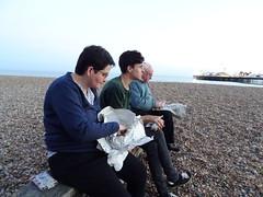 Chippy-chips (andyaldridge) Tags: adam beach brighton brightonpier dad eastsussex hazel palacepier pier seaside tom