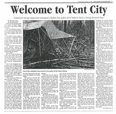 Tent City NEWS 2003-02-05 p3 01 (Maple Ridge Museum & Archives) Tags: mapleridge homeless homelessness shelter