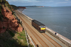 47746 (Teignstu) Tags: dawlish devon seawall railway wcrc class47 47746 lightengine brush