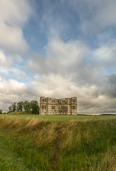 Unfinished business (grbush) Tags: lyvedennewbield lyveden northamptonshire clouds sky grass england englishheritage landscape lumixg panasonic olympusm918mm summer architecture panasonicg3
