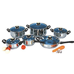 18/10 STAINLESS STEEL Gourmet Chef 12-piece Covered Cookware Set Pots and Pans (Good Food and Great Places to Eat) Tags: 12piece 1810 chef cookware covered gourmet pans pots stainless steel