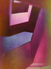 Staircase Marx-Zentrum II (Casey Hugelfink) Tags: munich münchen neuperlach marxzentrum stairs staircase treppen treppenhaus beton concrete plattenbau architecture minimalistic red