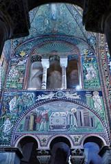Ravenna - San Vitale (Martin M. Miles) Tags: ravenna sanvitale basilicadisanvitalebasilicaofsanvitale ostrogoth arianism rotunda rotunde byzantineempire palatinechapel charlemagne abel melchizedek isaiah moses burningbush emiliaromagna italy